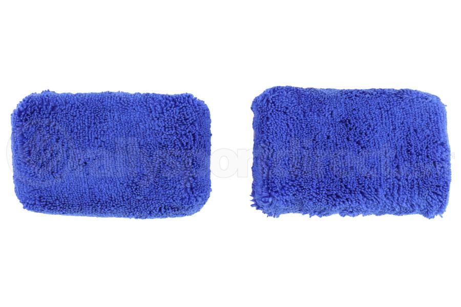 Chemical Guys Microfiber Applicator Pads Thick Premium Grade Blue (2 Pack) - Universal