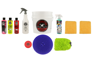 Chemical Guys Best Car Wash Bucket Kit w/Dirt Trap (11pc) Blue - Universal