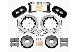 Wilwood AERO6 14in Front Kit Drilled / Slotted Black - Subaru Models (inc. 2002-2014 WRX / 2004+ STI)