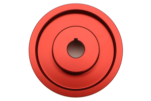 GrimmSpeed Lightweight Pulley Red  ( Part Number:GRM 095015R)