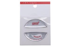 STI Premium Fuel Cap Ornament Silver - Subaru WRX / STI 2015 - 2020