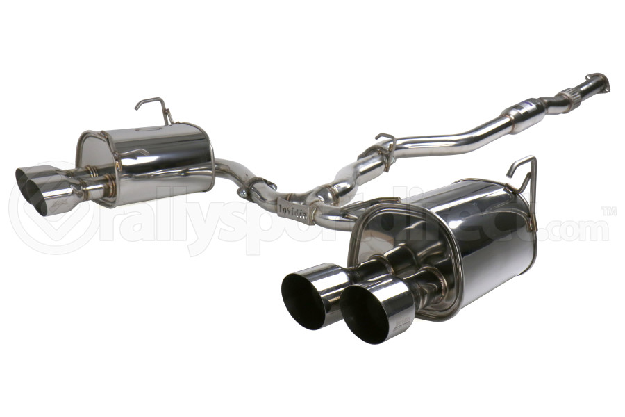 Invidia Q300 Cat Back Exhaust Single Layer Stainless Steel Tips - Subaru WRX / STI Sedan 2011-2014