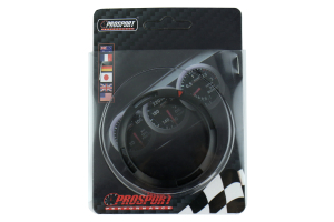 ProSport Premium Series Black Bezel Cover w/ Warning Ring 52mm (Part Number: )