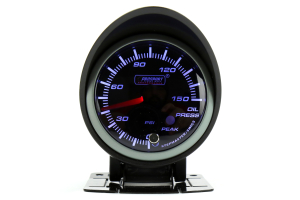 ProSport Oil Pressure Gauge Electrical w/Sender Blue/White 52mm (Part Number: )