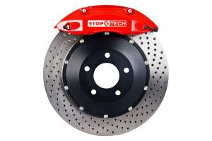 Stoptech ST-40 Big Brake Kit Front 332mm Red Drilled Rotors - Subaru Models (inc. 2002-2007 WRX)