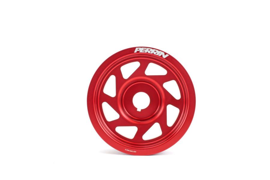 PERRIN Lightweight Crank Pulley w/o AC Red - Subaru WRX 2002 - 2014 / STI 2004 - 2020