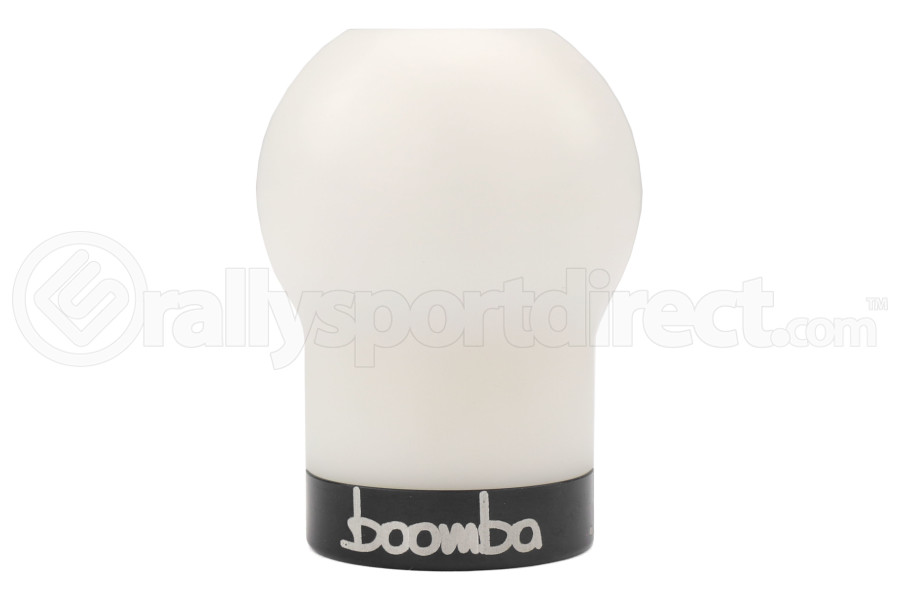 Boomba Racing White Delrin Shift Knob w/Black Trim (Part Number:031-00-011B)