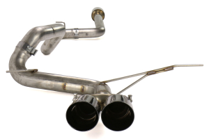 AWE Track Edition Cat Back Exhaust Resonated Diamond Black Tips - Ford Focus ST 2013+