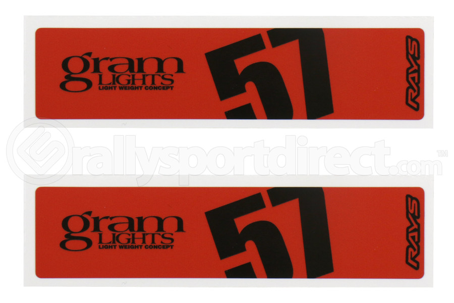 Gram Lights 57DR / 57CR Spoke Sticker Red (Part Number:WC57SSTKR)