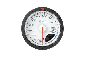 Defi Advance CR Oil Temperature Metric White 60mm Gauge  ( Part Number: DF09101)
