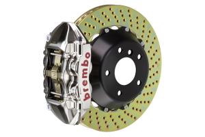 Brembo GT-R System 4 Piston Front Brake Kit Nickel Plated Drilled Rotors - Volkswagen Models (inc. 2015+ GTI)