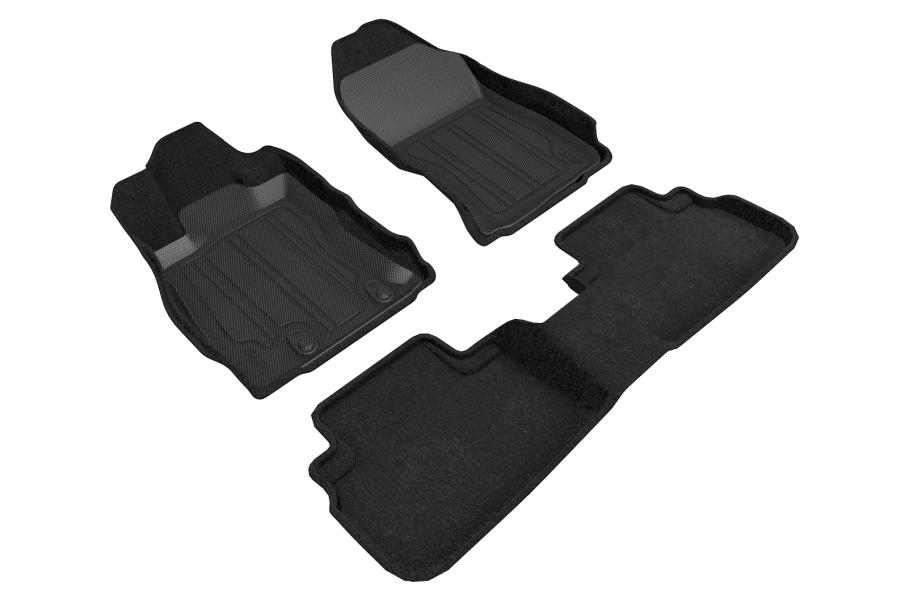 3D MAXpider Elegant Hybrid Floor Liners Black - Subaru Forester 2019-2021