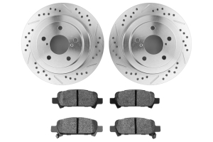 Hawk Performance Rotors w/ HPS 5.0 Pads Kit Rear ( Part Number: HK5139.434B)
