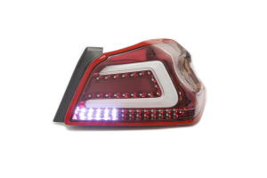 SubiSpeed USDM TR Style Sequential Tail Lights Clear Lens Red Reflector - Subaru WRX / STI 2015+