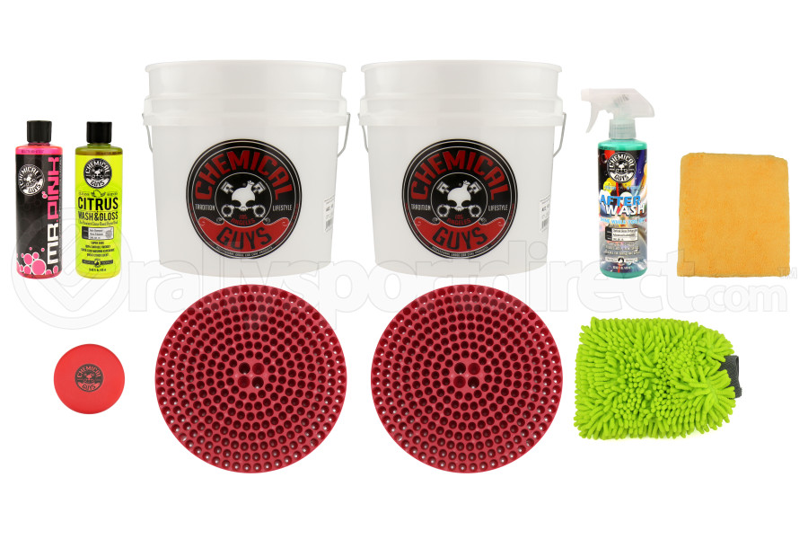 Chemical Guys Best Two Bucket Wash and Dry Kit (11pc) Red - Universal