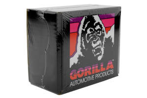 Gorilla Forged Steel Racing Lug Nuts Black Chrome Open Ended 12x1.25 (Part Number: )