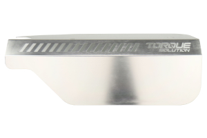 Torque Solution Engine Pulley Cover Silver - Subaru WRX 2015 - 2020