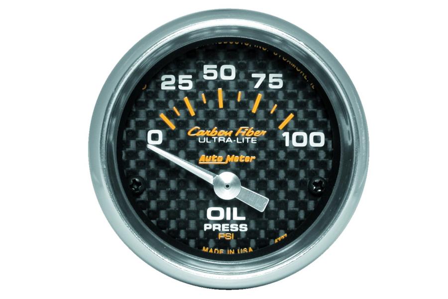 Autometer Carbon Fiber Oil Pressure Gauge Electrical 52mm - Universal