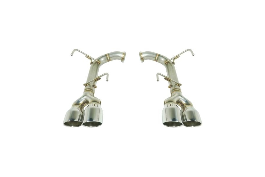 Remark Axle Back Exhaust Muffler Delete Stainless Double Wall 4in Tips - Subaru WRX / STI 2015+