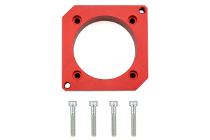Boomba Racing Cosworth Manifold Spacer Red Anodized - Subaru STI 2004-2014