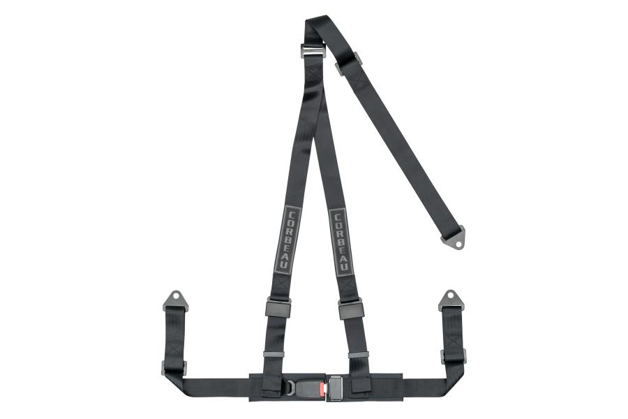 Corbeau 2 Inch Black 3-Point Bolt-In Harness Belt - Universal
