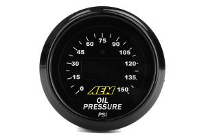 AEM Electronics Oil Pressure Gauge Digital 0-150psi 52mm - Universal