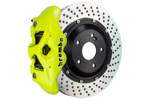 Brembo GT Systems Monobloc 4 Piston 345mm Cross Drilled Fluorescent Yellow - Honda Civic Type R/SI 2017+