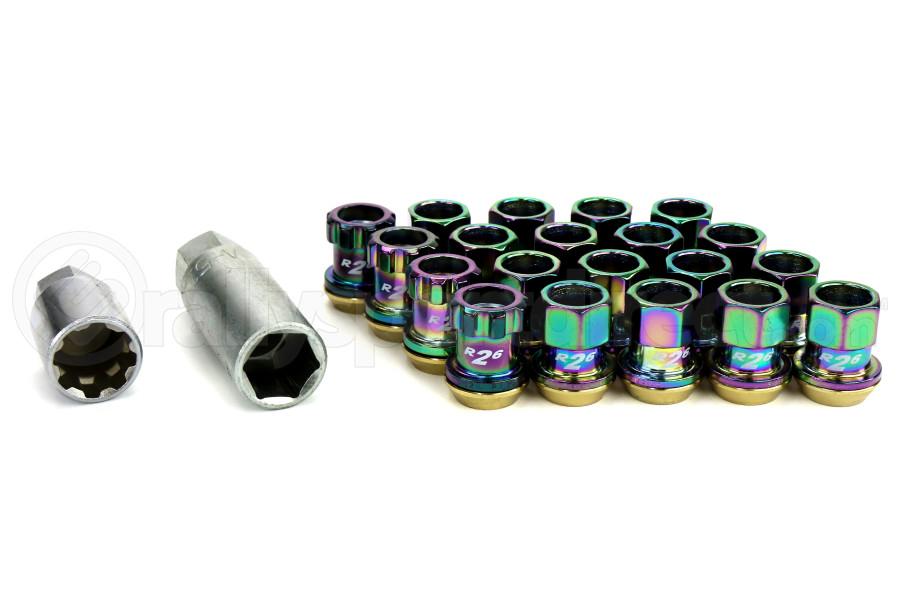 KICS Racing Lug Nuts R26 Composite 12x1.25 Neo Chrome (Part Number:32875N)