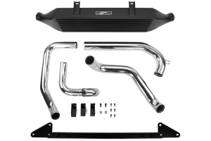Mishimoto Front Mount Intercooler Black w/ Intake (Part Number: )