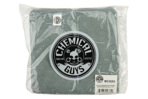 Chemical Guys Workhorse Professional Grade Microfiber Towel Grey (3 Pack) - Universal