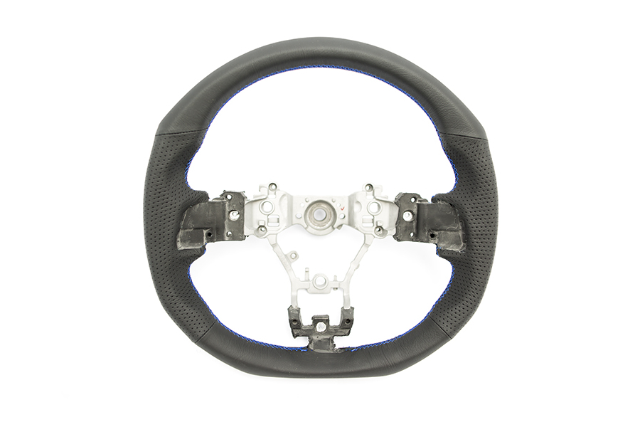 DAMD D-Shaped Steering Wheel Blue Stitching - Subaru WRX / STI 2015+