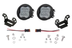 Diode Dynamics SS3 Pod Max Round Fog Light Kit White - Universal