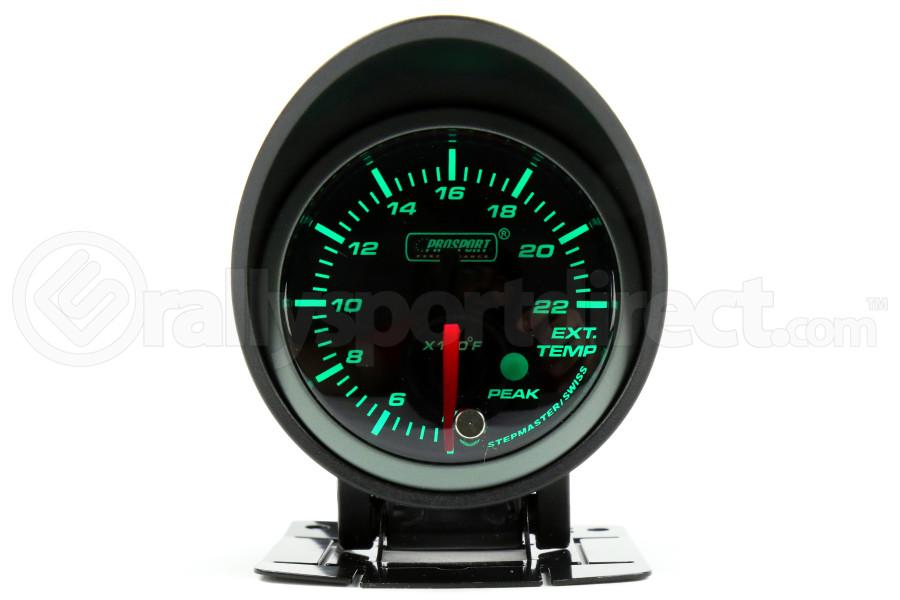ProSport EGT Gauge Electrical w/Sender Green/White 52mm (Part Number:216SMWGEGTSWL270-PK.F)