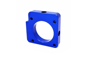 Torque Solution Throttle Body Spacer Blue - Subaru WRX 2006-2014 / STI 2004-2015