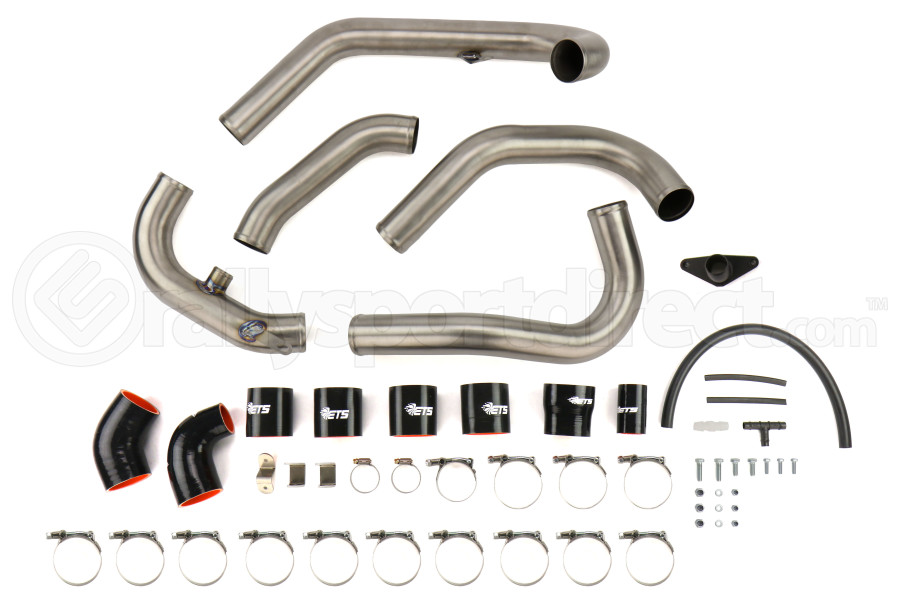 ETS Titanium Front Mount Intercooler Piping Kit Brushed Titanium - Subaru STI 2008 - 2014