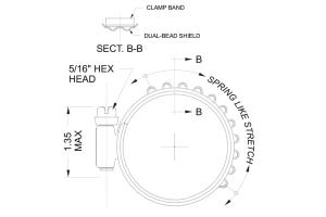 Turbosmart Murray Clamps 3.500-4.375in - Universal