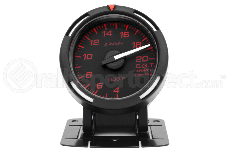 Defi Red Racer EGT Exhaust Gas Temperature Gauge Imperial 52mm 400-2000F White Needle ( Part Number:DEF1 DF06807)