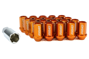 Volk Racing Dura-Nut L42 Straight Type M12X1.50 Lock and Nut Set Orange (Part Number: )