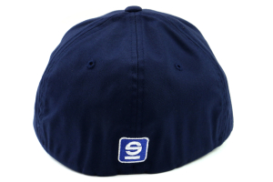 Sparco Hat Lid Navy Large/XLarge FlexFit Tuning - Universal