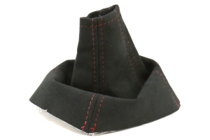 AutoStyled Black Alcantara Shift Boot w/ Red Stitching Standard Shifter (Part Number: )