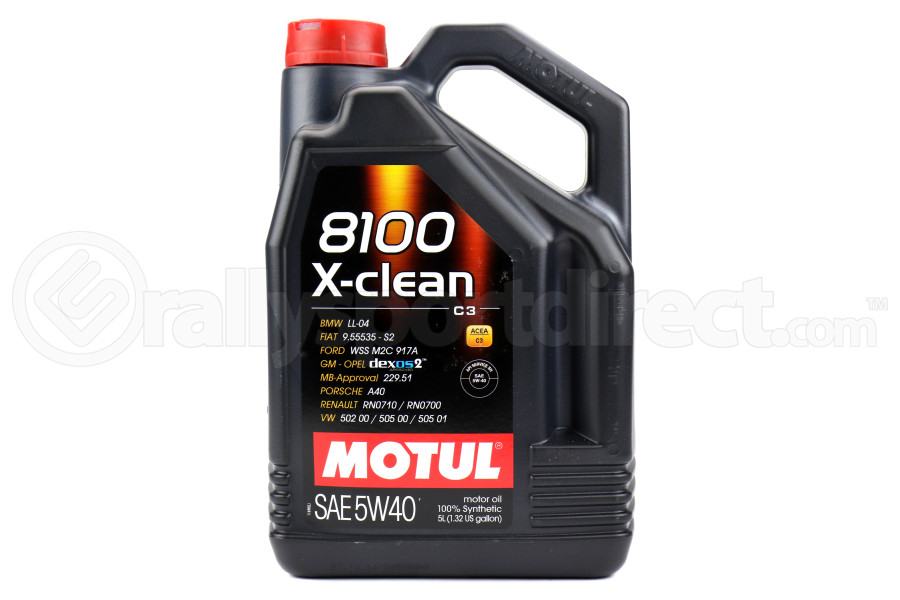 motul 8100 xclean engine oil 5w40 5l 102051 free shipping. Black Bedroom Furniture Sets. Home Design Ideas