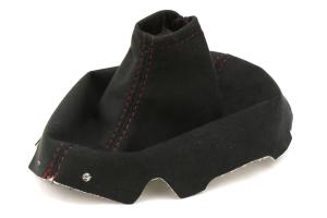AutoStyled Black Microsuede Shift Boot w/ Red Stitching - Subaru WRX 2015+
