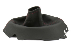 AutoStyled Black Leather Shift Boot w/ Red Stitching - Subaru WRX 2015+