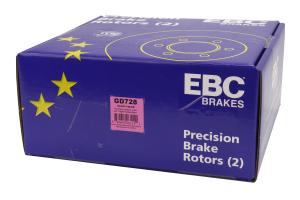 EBC Brakes 3GD Series Sport Dimpled/Slotted Rear Brake Rotors - Subaru Models (inc. 2002-2007 WRX / 1998-2008 Forester)