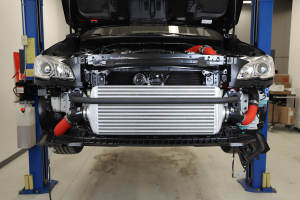 GrimmSpeed Front Mount Intercooler Kit Silver Core w/ Red Piping - Subaru WRX 2015 - 2020