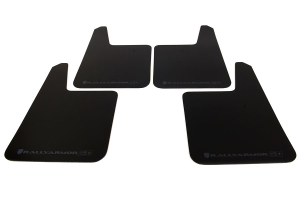 Rally Armor UR Plus Universal Mud Flaps Black Urethane Grey Logo ( Part Number: MF20-UR-P-BLK/GRY)