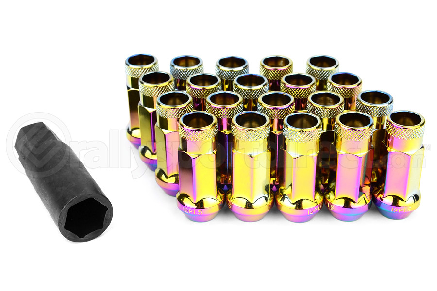 Muteki SR48 Neo Chrome Open Ended Lug Nuts 12X1.50 (Part Number:32906N)