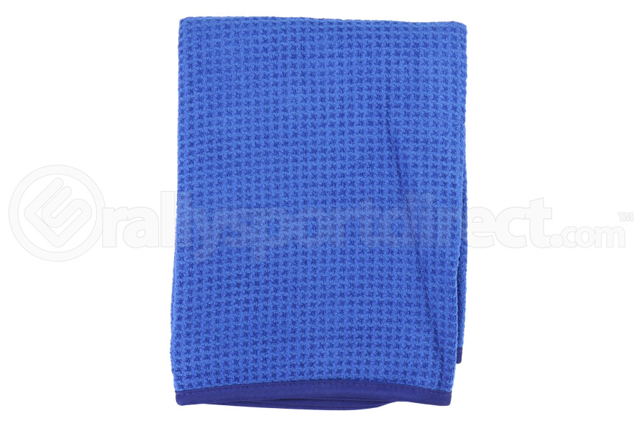 Chemical Guys Glass And Window Waffle Weave Microfiber Towel Blue - Universal