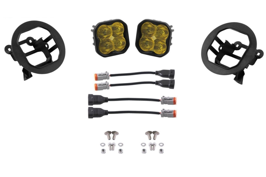 Diode Dynamics SS3 Pod Max Fog Light Kit Yellow - Subaru Outback 2005-2009 / 2013-2019