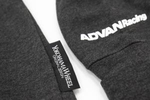 Advan/Yokohoma Wheel Zip Up Hoodie Charcoal - Universal